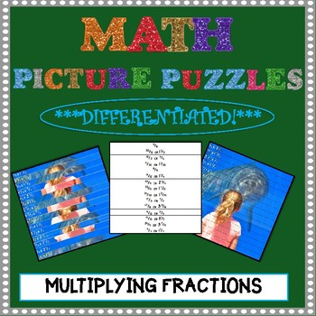 Math Picture Puzzle Games: Multiplying Fractions