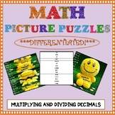 Math Picture Puzzle Games: Multiplying and Dividing Decimals