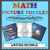 Math Picture Puzzle Games: Writing Decimals