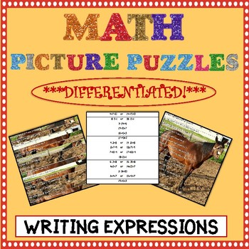 Math Picture Puzzle Games: Writing Expressions
