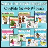 2nd Grade Math Picture Puzzles BUNDLE