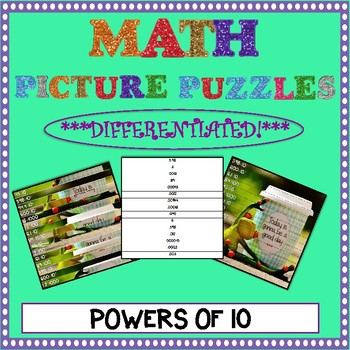 Math Picture Puzzle Games: Powers of 10