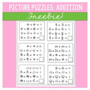 Math Picture Puzzles | Solve for the Unknown