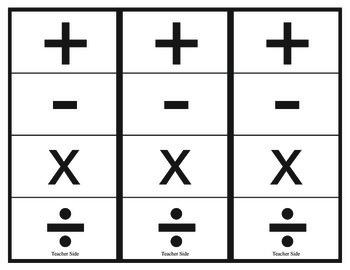 Math Pinch Cards