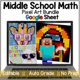 Math Pixel Art Activity Bundle