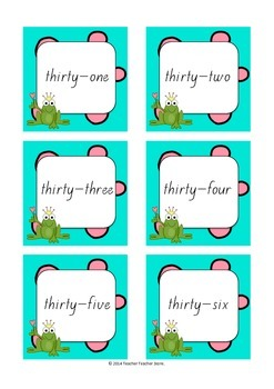 Math Pixie Number Identification 20-50 Games and Worksheets K-2