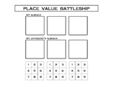 Math - Place Value Battleship Game