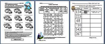 Math:  Place Value Bundle  through the Hundred Thousand Place
