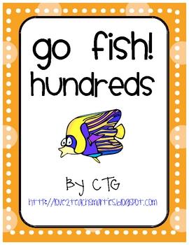 Math Place Value Go Fish Center (hundreds)