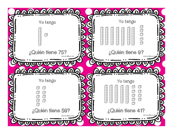 Math/ Place Value/ I have, who has in English and Spanish