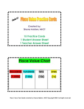 Math Place Value Practice (Second and Third Grade)