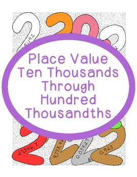 Math Place Value Practice Ten Thousands Through Hundred Thousandths PDF