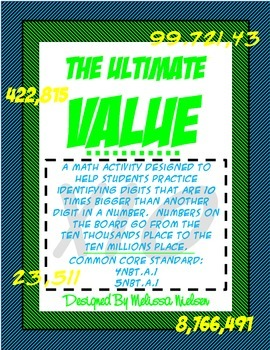 Math Place Value Relationship Activity (Common Core Aligned)