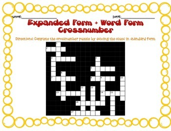 Place Value, Rounding, Expanded Form, Word Form Challenge Activities/Puzzles