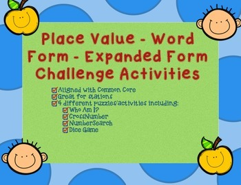 Place Value, Rounding, Expanded Form, Word Form Challenge