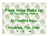 Math Place Value Shake Up St. Patrick's Day Themed