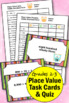 Place Value Task Cards Standard Form Up to Thousands Math