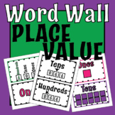 Math Place Value Posters -Word Wall Words - Back to School- Math Place Value