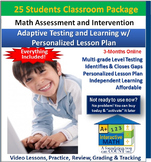 """A+"" Math Placement Test - Assessment, Intervention, Enrichment (25 Students)"