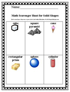 Math Plane & Solid Shapes Pack Common Core for Geometry 2nd Grade
