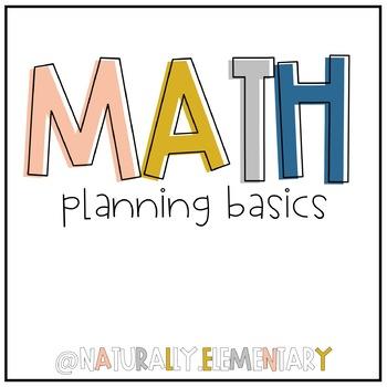 Math Planning Basics