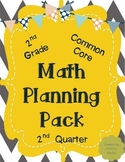 Math Planning Pack for 2nd Quarter (2nd Grade - Common Core)