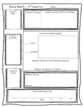 Math Planning Pack for 3rd Quarter (2nd Grade - Common Core)