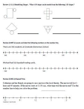 Math Plans & Sheets(3.G.1) Shapes  3rd Grade Common Core 4th 9 Weeks