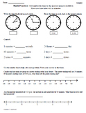 Math Plans & Sheets(3.MD.1) Elapsed Time part1 3rd Grade Common Core 4th 9 Weeks