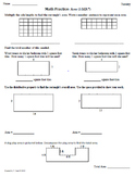 Math Plans & Sheets(3.MD.7) Area Part3  3rd Grade Common Core 4th 9 Weeks