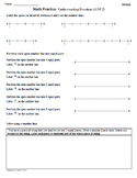 Math Plans & Sheets(3.NF.2) Fractions 3rd Grade Common Core 3rd 9 Weeks