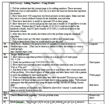 Math Plans & Sheets(3.OA.8)Word Problems -3rd Grade Common Core 2nd 9 Weeks