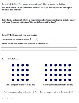 Math Plans & Sheets(3.MD.2)Measurement:Liquid 3rd Grade Common Core 4th9Weeks
