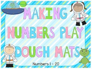 Math Play Dough Mats; Numbers 1 - 20