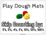 Math Play Dough Mats: Skip Counting