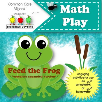 Math Play: Feed the Frog! (Number Recognition and Counting; Expanded Version)