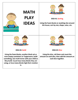 Math Play Idea Cards