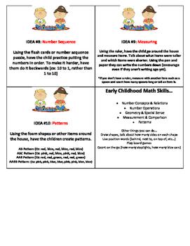 Math Play Idea Cards