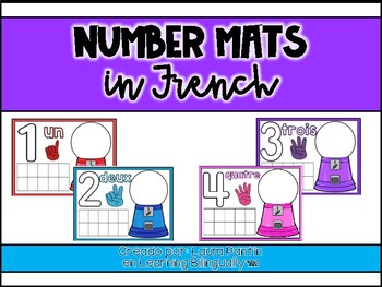 Math Playdough Number Mats in French