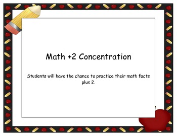 Math Plus Two Concentration