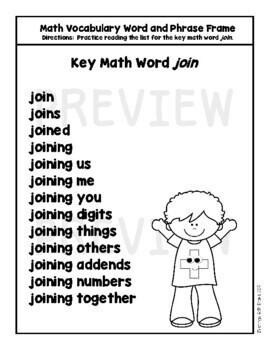 Math Vocabulary Poems