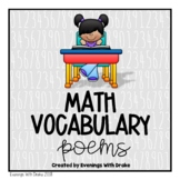 Math Vocabulary Poems