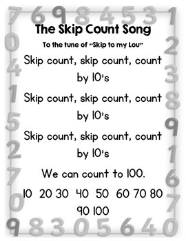 Math Poems and Songs for Primary Grades