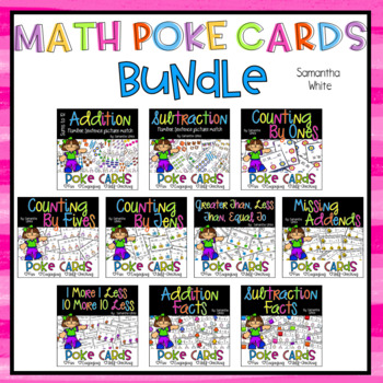 Math Poke Cards {BUNDLE}