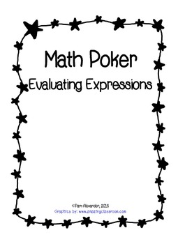 Math Poker Evaluate Expressions