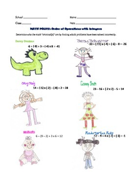 Math Police: Order of Operations