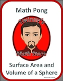 Math Pong: Surface Area and Volume of Spheres and Hemispheres