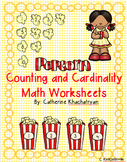 Math Popcorn Counting and Cardinality Worksheets