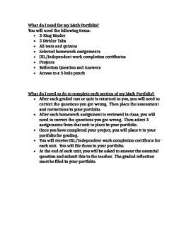 Math Portfolio