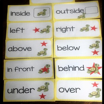 Math Position Words Vocabulary Word Cards